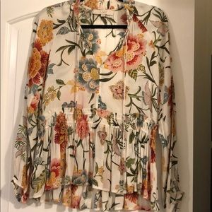 Loft top in pretty floral print
